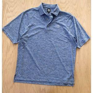 Mens FOOTJOY FJ Stretch Lisle Heathered Stretch Polo Shirt X-Large XL Blue